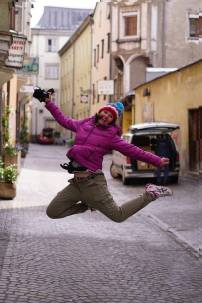 Jumping in Hall in Tirol
